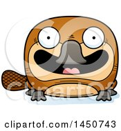 Clipart Graphic Of A Cartoon Smiling Platypus Character Mascot Royalty Free Vector Illustration by Cory Thoman