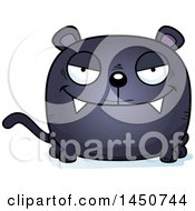 Clipart Graphic Of A Cartoon Sly Black Panther Character Mascot Royalty Free Vector Illustration by Cory Thoman