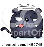 Clipart Graphic Of A Cartoon Drunk Black Panther Character Mascot Royalty Free Vector Illustration by Cory Thoman