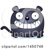 Clipart Graphic Of A Cartoon Grinning Black Panther Character Mascot Royalty Free Vector Illustration by Cory Thoman