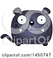 Clipart Graphic Of A Cartoon Happy Black Panther Character Mascot Royalty Free Vector Illustration by Cory Thoman