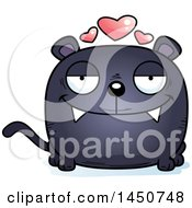Clipart Graphic Of A Cartoon Loving Black Panther Character Mascot Royalty Free Vector Illustration by Cory Thoman