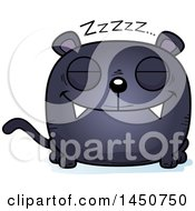 Clipart Graphic Of A Cartoon Sleeping Black Panther Character Mascot Royalty Free Vector Illustration by Cory Thoman