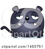 Clipart Graphic Of A Cartoon Sad Black Panther Character Mascot Royalty Free Vector Illustration by Cory Thoman