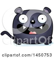 Clipart Graphic Of A Cartoon Smiling Black Panther Character Mascot Royalty Free Vector Illustration