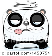 Clipart Graphic Of A Cartoon Drunk Panda Character Mascot Royalty Free Vector Illustration by Cory Thoman