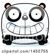 Clipart Graphic Of A Cartoon Grinning Panda Character Mascot Royalty Free Vector Illustration