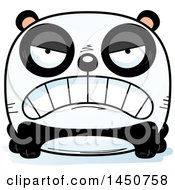 Clipart Graphic Of A Cartoon Mad Panda Character Mascot Royalty Free Vector Illustration by Cory Thoman