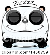 Clipart Graphic Of A Cartoon Sleeping Panda Character Mascot Royalty Free Vector Illustration by Cory Thoman