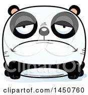 Clipart Graphic Of A Cartoon Sad Panda Character Mascot Royalty Free Vector Illustration