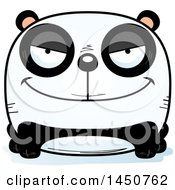Clipart Graphic Of A Cartoon Sly Panda Character Mascot Royalty Free Vector Illustration by Cory Thoman