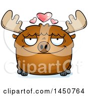 Clipart Graphic Of A Cartoon Loving Moose Character Mascot Royalty Free Vector Illustration by Cory Thoman