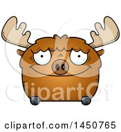 Clipart Graphic Of A Cartoon Happy Moose Character Mascot Royalty Free Vector Illustration