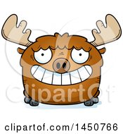 Clipart Graphic Of A Cartoon Grinning Moose Character Mascot Royalty Free Vector Illustration by Cory Thoman