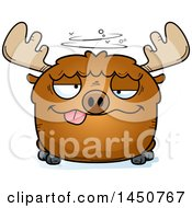 Clipart Graphic Of A Cartoon Drunk Moose Character Mascot Royalty Free Vector Illustration by Cory Thoman