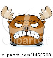 Clipart Graphic Of A Cartoon Mad Moose Character Mascot Royalty Free Vector Illustration by Cory Thoman