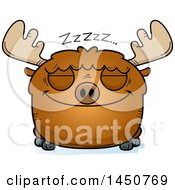 Clipart Graphic Of A Cartoon Sleeping Moose Character Mascot Royalty Free Vector Illustration by Cory Thoman