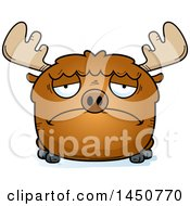 Clipart Graphic Of A Cartoon Sad Moose Character Mascot Royalty Free Vector Illustration by Cory Thoman
