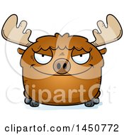 Clipart Graphic Of A Cartoon Sly Moose Character Mascot Royalty Free Vector Illustration