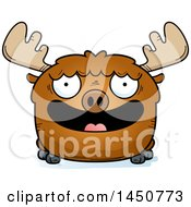 Clipart Graphic Of A Cartoon Smiling Moose Character Mascot Royalty Free Vector Illustration by Cory Thoman
