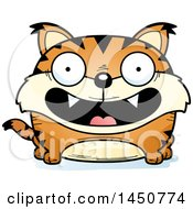 Cartoon Smiling Lynx Character Mascot