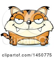 Clipart Graphic Of A Cartoon Sly Lynx Character Mascot Royalty Free Vector Illustration