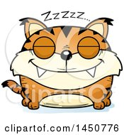Clipart Graphic Of A Cartoon Sleeping Lynx Character Mascot Royalty Free Vector Illustration