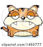 Clipart Graphic Of A Cartoon Sad Lynx Character Mascot Royalty Free Vector Illustration