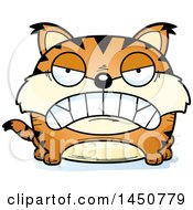 Clipart Graphic Of A Cartoon Mad Lynx Character Mascot Royalty Free Vector Illustration