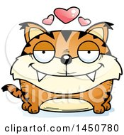 Clipart Graphic Of A Cartoon Loving Lynx Character Mascot Royalty Free Vector Illustration by Cory Thoman