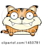 Clipart Graphic Of A Cartoon Happy Lynx Character Mascot Royalty Free Vector Illustration