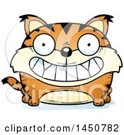 Clipart Graphic Of A Cartoon Grinning Lynx Character Mascot Royalty Free Vector Illustration
