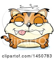Clipart Graphic Of A Cartoon Drunk Lynx Character Mascot Royalty Free Vector Illustration by Cory Thoman
