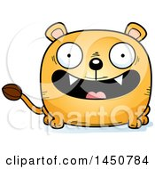 Cartoon Smiling Lioness Character Mascot
