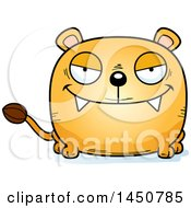 Clipart Graphic Of A Cartoon Sly Lioness Character Mascot Royalty Free Vector Illustration by Cory Thoman