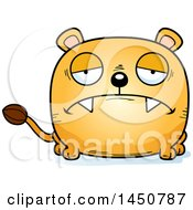 Cartoon Sad Lioness Character Mascot