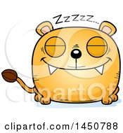 Clipart Graphic Of A Cartoon Sleeping Lioness Character Mascot Royalty Free Vector Illustration