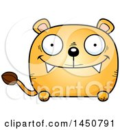Cartoon Happy Lioness Character Mascot