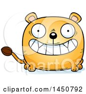 Clipart Graphic Of A Cartoon Grinning Lioness Character Mascot Royalty Free Vector Illustration by Cory Thoman
