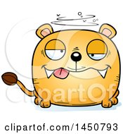 Clipart Graphic Of A Cartoon Drunk Lioness Character Mascot Royalty Free Vector Illustration by Cory Thoman
