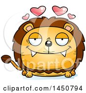 Clipart Graphic Of A Cartoon Loving Male Lion Character Mascot Royalty Free Vector Illustration