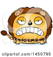 Clipart Graphic Of A Cartoon Mad Male Lion Character Mascot Royalty Free Vector Illustration