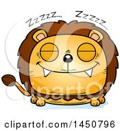 Clipart Graphic Of A Cartoon Sleeping Male Lion Character Mascot Royalty Free Vector Illustration