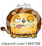 Clipart Graphic Of A Cartoon Drunk Male Lion Character Mascot Royalty Free Vector Illustration