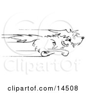 Happy Dog Running As Fast As He Can Clipart Illustration by Andy Nortnik #COLLC14508-0031