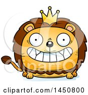 Clipart Graphic Of A Cartoon Grinning Lion King Character Mascot Royalty Free Vector Illustration