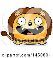 Clipart Graphic Of A Cartoon Smiling Male Lion Character Mascot Royalty Free Vector Illustration by Cory Thoman