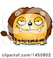 Clipart Graphic Of A Cartoon Sly Male Lion Character Mascot Royalty Free Vector Illustration