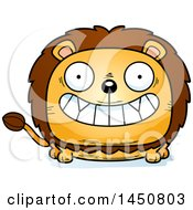 Clipart Graphic Of A Cartoon Grinning Male Lion Character Mascot Royalty Free Vector Illustration