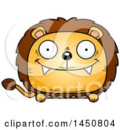 Clipart Graphic Of A Cartoon Happy Male Lion Character Mascot Royalty Free Vector Illustration